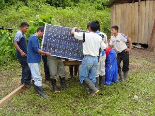 Solar panels in Ecuador